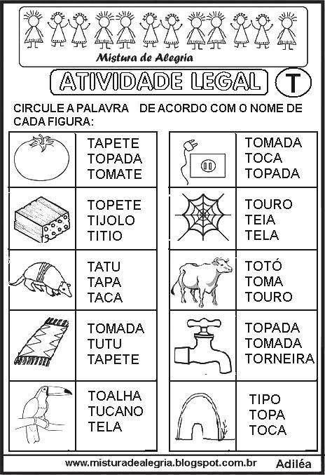 sequencia-alfabetica-atividade-legal-alfabetizacao-T-imprimir-colorir.JPG…
