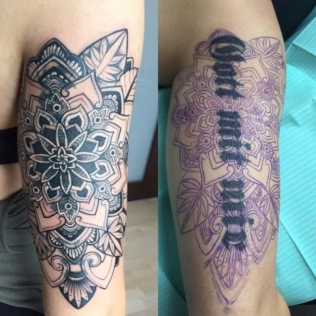 30 Brilliant Tattoo Cover Up Ideas –  Easiest Way to Try                                                                                                                                                     More