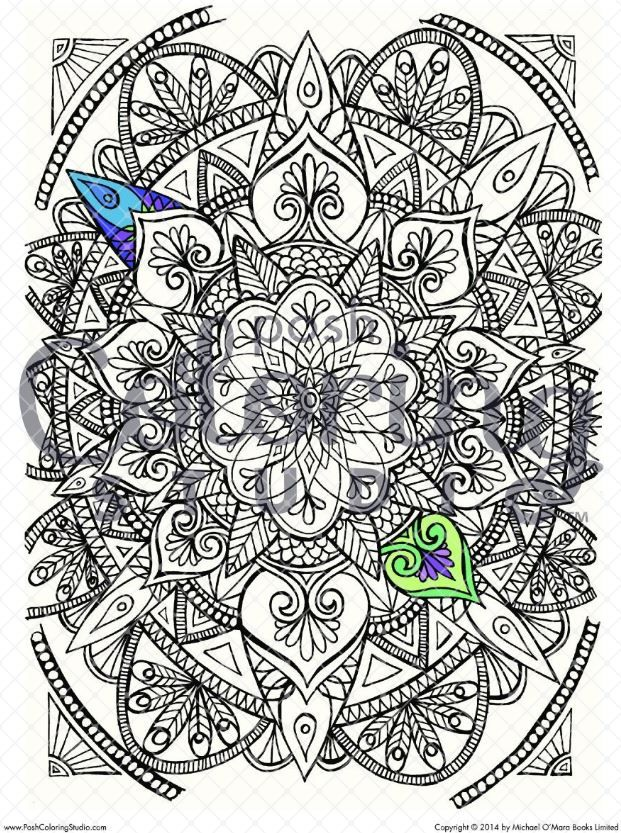 These Adult Coloring Pages Are All About Mandalas Print From The Best