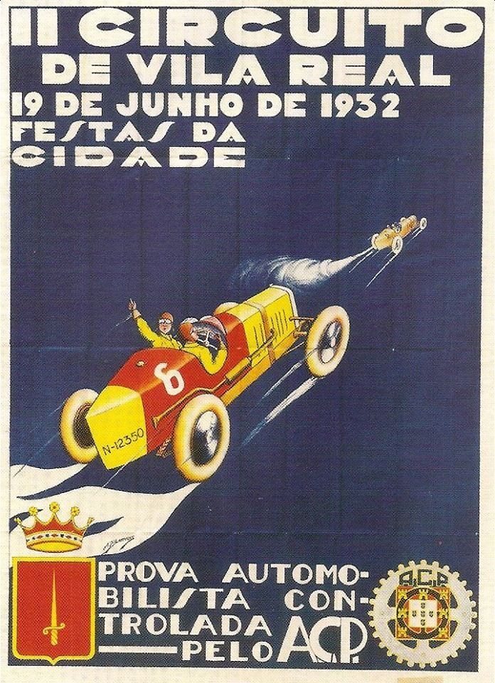 Cartaz do Circuito de Vila Real de 1932