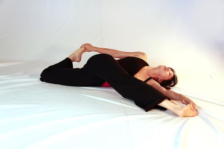 Cat's tail -- my favourite position from this morning's Yin Yoga class.