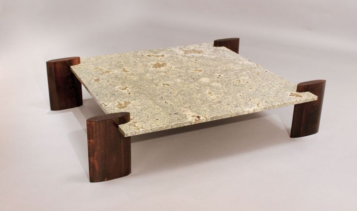 Rosewood & pale blue granite coffee table attributed to Celina | From a unique collection of antique and modern coffee and cocktail tables at http://www.1stdibs.com/furniture/tables/coffee-tables-cocktail-tables/  $5200