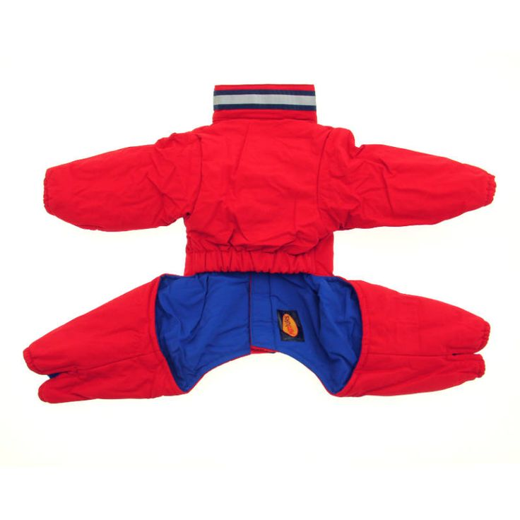 Muttluks Reversible Dog Snowsuit - Red / Navy