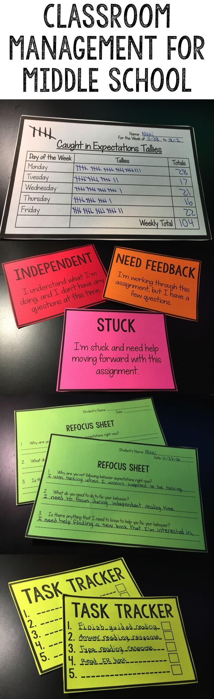 Classroom Management Ideas Middle School ~ The best behavior cards ideas on pinterest