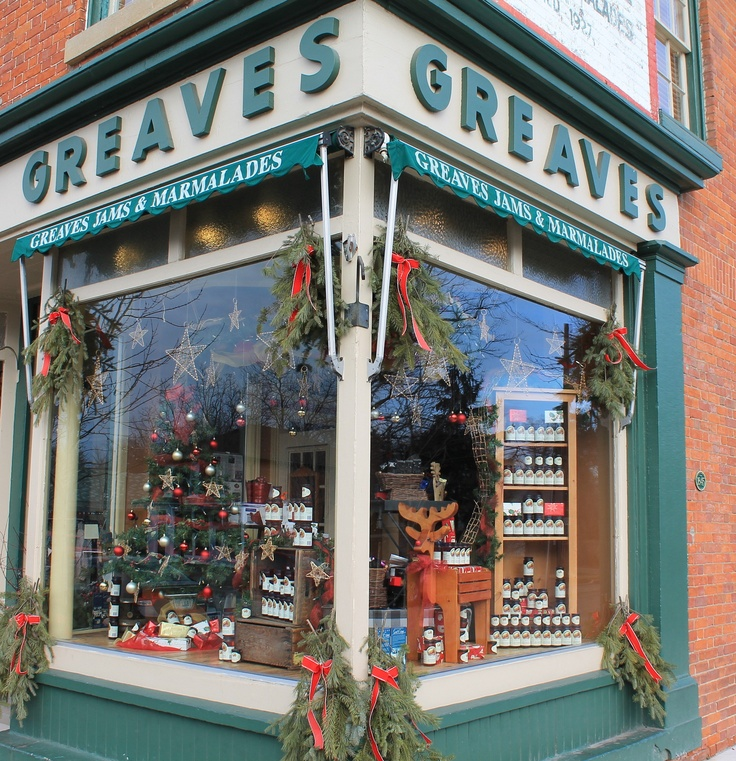 Greaves all decorated for Christmas in Niagara on the Lake