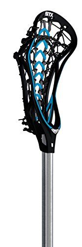 STX Lacrosse Women's Fortress 500 Complete Stick with Black Head/Black Overmold and a Black Launch Pocket on STX Composite 1-Inch Teardrop Handle