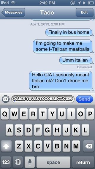 funny auto-correct texts - The Best Autocorrects Of September 2013!