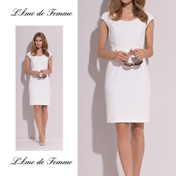 simple white dress for our clients
