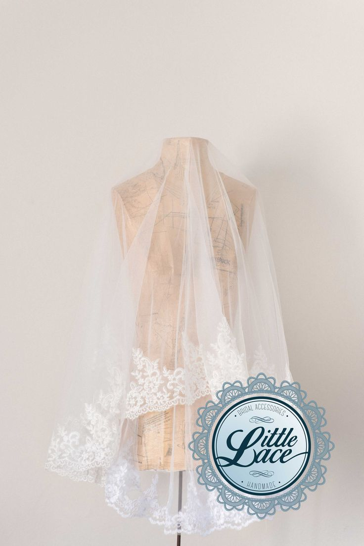 Gorgeous medium length veils, perfect for drawing attention to the upper half of your wedding dress.