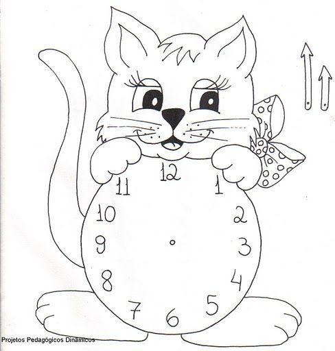 Sevimli Saat Boyama Meyveler поделки детский сад Ve математика