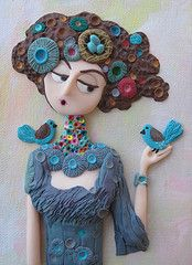 Nest Maiden - Polymer clay by Tammy Durham photo by Tammy Durham