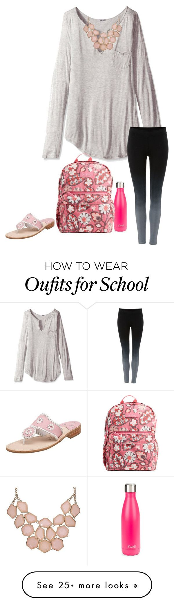 Ready for school by madison-mills-1 on Polyvore featuring LAmade, Swell, Label Lab, Vera Bradley and Jack Rogers - http://amzn.to/2g1fale