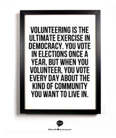 All volunteering is political....