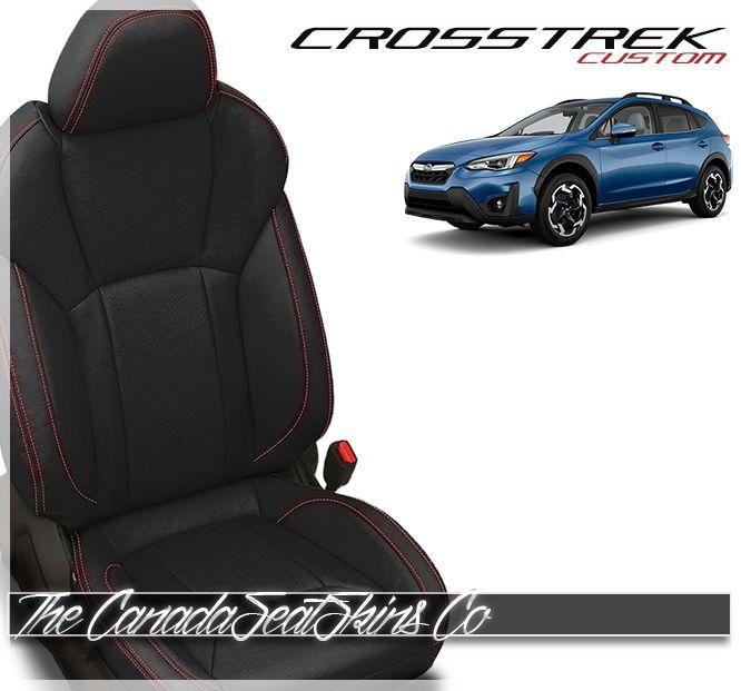 2018 2021 Subaru Crosstrek Custom Leather Upholstery Custom Leather Leather Interior Design Leather Kits