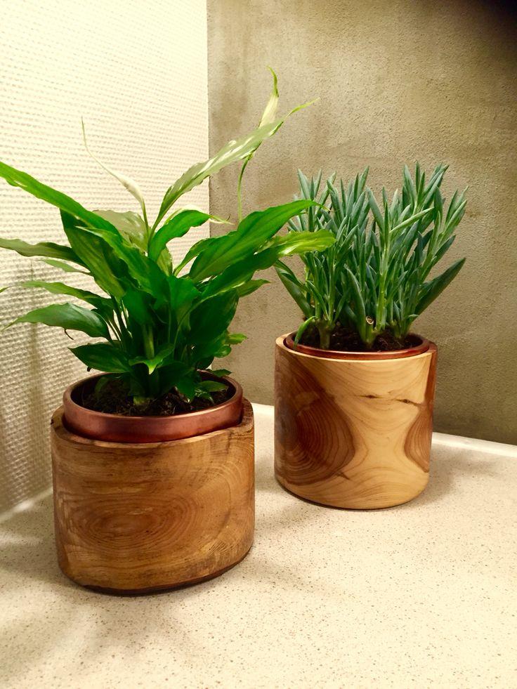 DIY wooden flowet pot cover