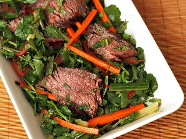 Grilled Beef Vietnamese Salad from Serious Eats (http://punchfork.com/recipe/Grilled-Beef-Vietnamese-Salad-Serious-Eats)