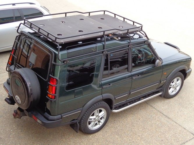 Land Rover Discovery 2 with roof rails Roof Rack Gutter Mount
