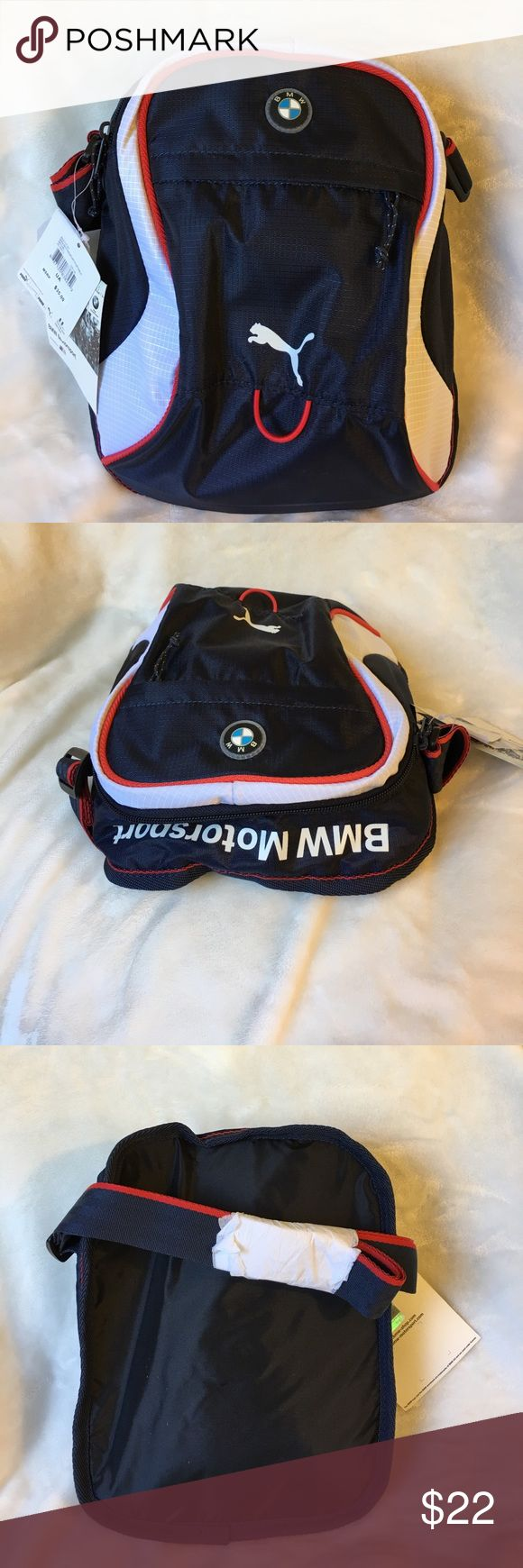 NWT Unisex BMW/Puma sport bag Brand new Unisex BMW/Puma sport bag, has a padded compartment that fits an iPad, great lightweight, on the go bag, smoke free home BMW Motosport Bags Messenger Bags