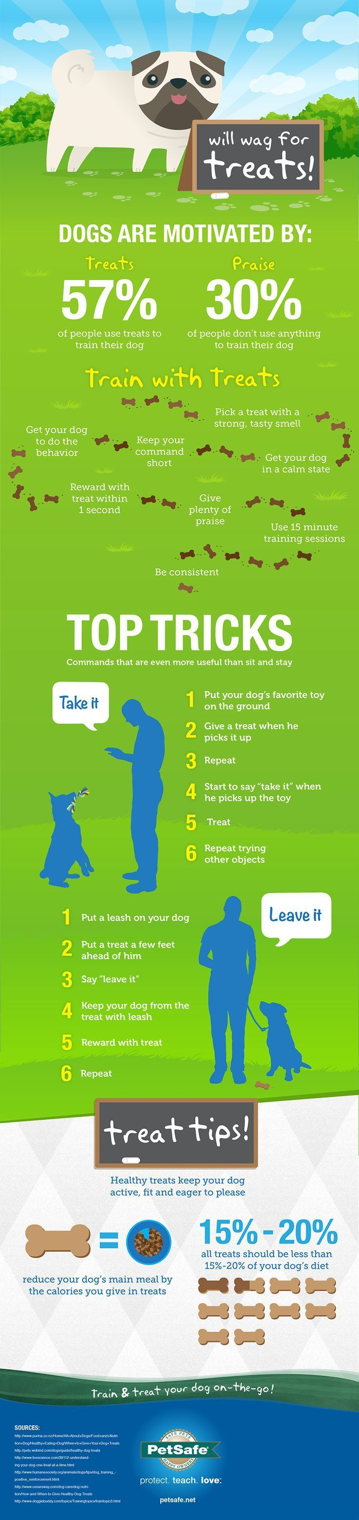 """Great dog training tips from PetSafe -- training with treats, praise; teaching """"Take It"""" and """"Leave It"""""""
