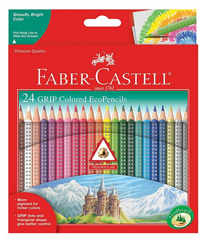 Faber Castell Grip Colored Ecopencils 24 Count Faber Castell Colored Pencils Faber