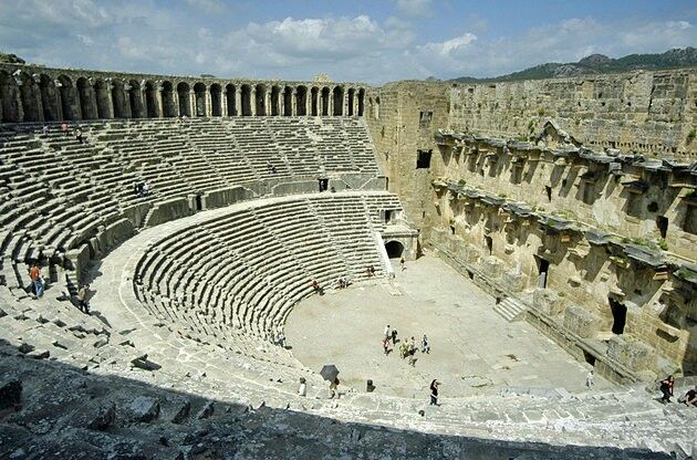 Aspendos	 Just south of Antalya, the jaw-dropping bulk of Aspendos' Roman Theatre celebrates the pomp and ceremony of Marcus Aurelius' rule. Considered the finest surviving example of a classical world theatre, it is one of antiquity's star attractions.