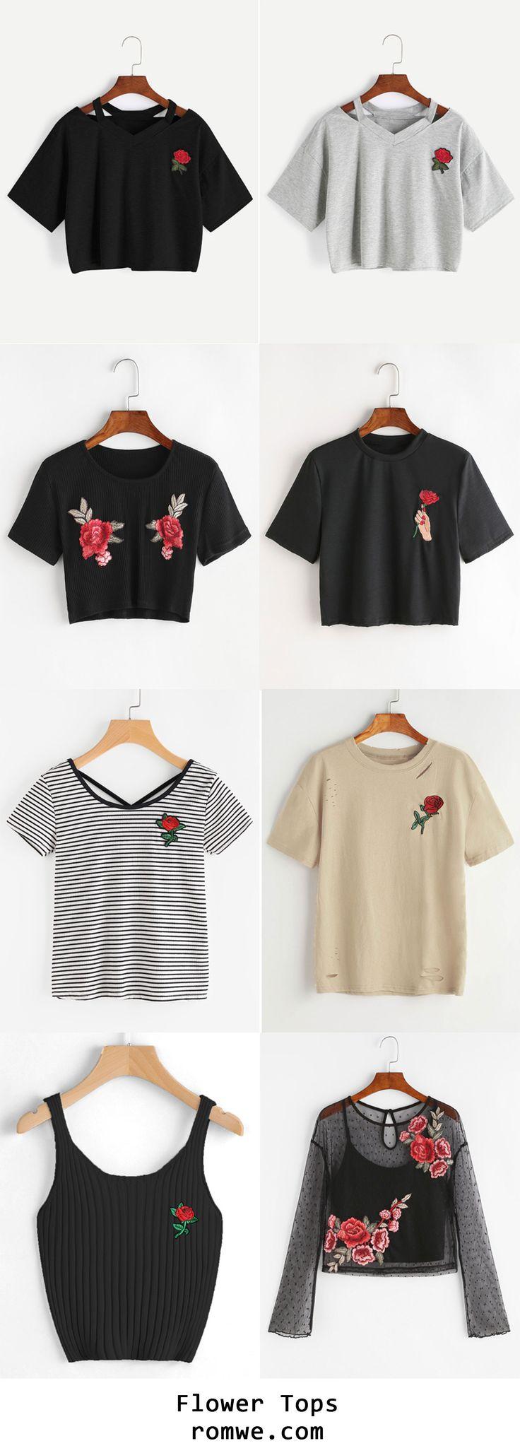 decora tu ropa con apliques de flores