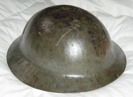 WW1 Helmet worn by Canadian soldier