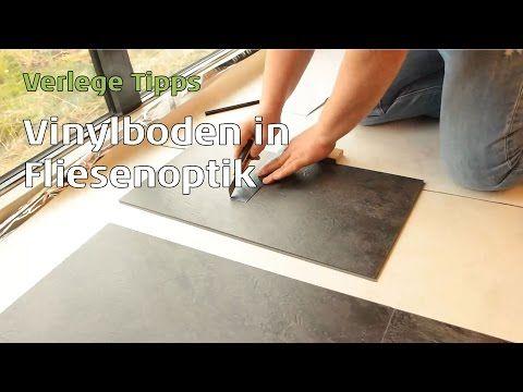 Vinylboden in Fliesenoptik verlegen, Parkett Wohnwelt erklärt wie es funktioniert - YouTube