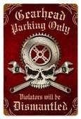 Vintage-Retro Gearhead Parking Metal-Tin Sign
