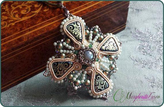 Rinascimento handmade pendant with labradorite by 75marghe75