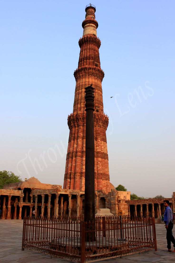 The Iron Pillar located in Delhi, India, is a 7 m (23 ft) column in the Qutb complex, notable for the rust-resistant