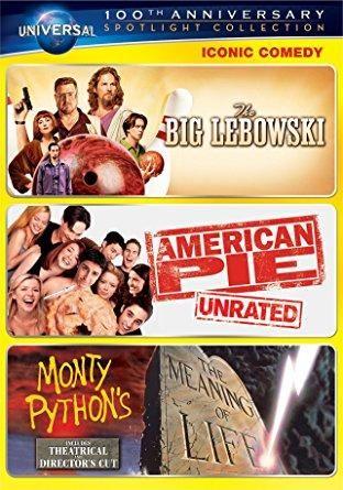 Jeff Bridges & Jason Biggs & Joel Coen & Paul Weitz -Iconic Comedy Spotlight Collection: (The Big Lebowski / American Pie / Monty Python's The Meaning of Life)