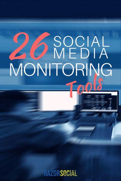 26 Social Media Monitoring Tools [infographic] #socialmedia #sm via @razorsocial