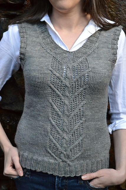 Ravelry: Necessary Vest pattern by Samantha Kirby