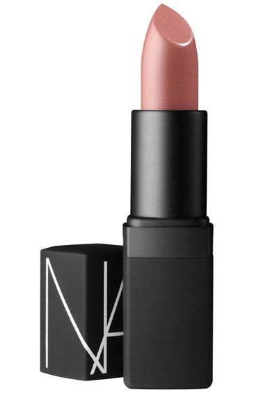 """THE 12 BEST NUDE LIPSTICKS: NARS Sheer Lipstick in Cruising - """"This works for all complexions because it's very close to the natural flesh tone of lips. The formulation is bold, so it mutes naturally vibrant lips amazingly well, and for women with thin lips, the pinky tone makes lips look twice as full."""