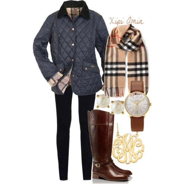 A fashion look from October 2014 featuring Barbour jackets, J Brand pants and Tory Burch boots. Browse and shop related looks.