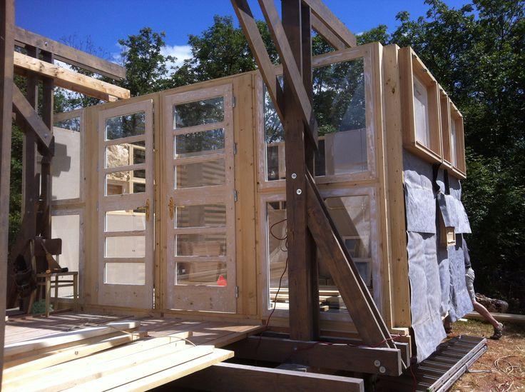 ecovastudesign / Modular Building - Rovinjsko Selo / wall framing construction