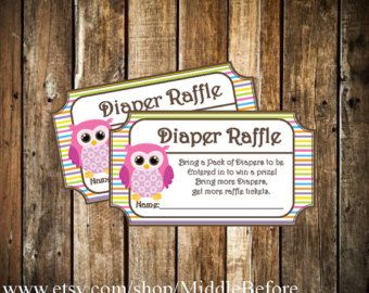 Printable Baby Shower Diaper Raffle Ticket
