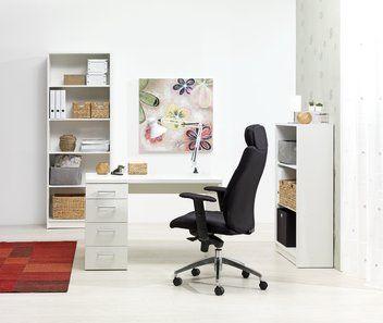 Skrivebord MARSLEV 4 skuffer hvid | JYSK