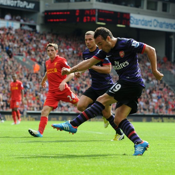 On this day: September 2, 2012, Cazorla scores his first Arsenal goal.