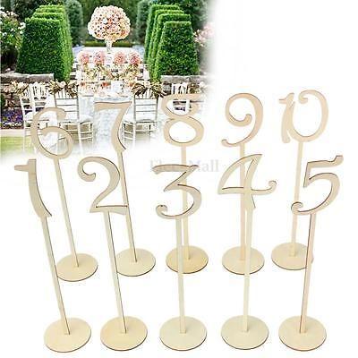 10 unids/set estilo Caliente De Madera suministros de la boda Place holder tarjeta de número de la tabla figura digital Decoración asiento(China (Mainland))