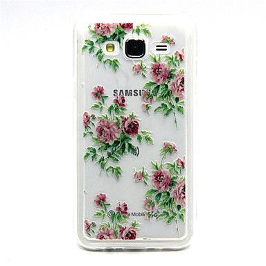 roze bloem roos patroon TPU acryl zachte hoes voor Samsung Galaxy J1 / galaxy J5 / galaxy j7 2015 – €2.93