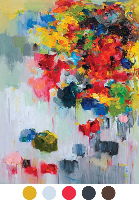 """Abstract Art from Yangyang Pan~""""Flower on Wall"""" (by siiso)"""