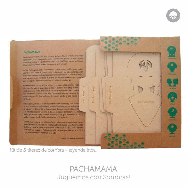 Kit para jugar con sombras basado en Leyenda de la Pachamama, Oh! Pacha Juguetes #shadow #puppets #titeres #sombras #leyendas #ecotoys #juegos