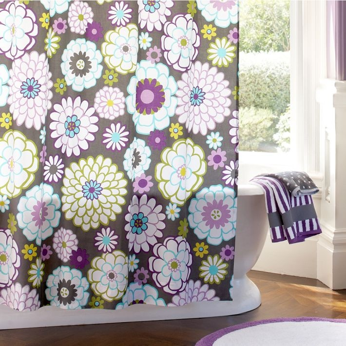 Madison Floral Shower Curtain. Teen Girl ... - 47 Best Shower Curtain Images On Pinterest