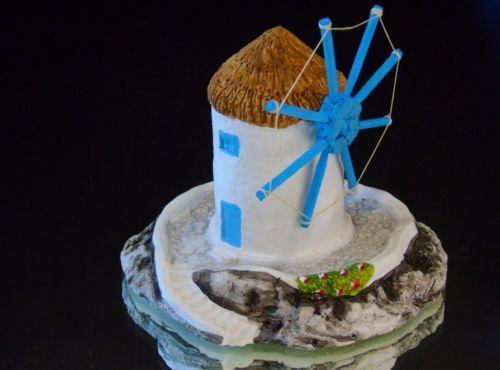 Greece-Windmill-Miniature-Chalk-Figurine-Hand-Made-Niko-Keramik-Greece