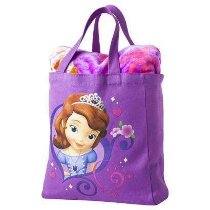 Disney Sofia the First Throw and Canvas Tote Set