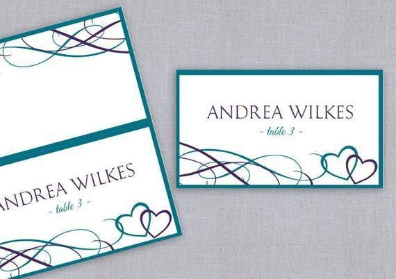 Staples Tent Cards Template Lovely Place Card Tent Download Instantly By Diyweddingtemplates Tent Cards Card Template Cards