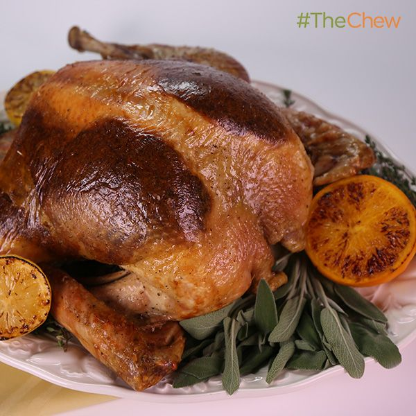 Must try this- Stuffing bakes under the skin, and takes half the time!!! Super-Fast Roast Turkey by Tyler Florence! #TheChew
