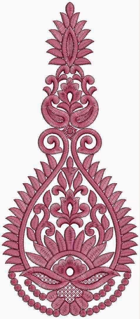 Moderne stylvol borduurwerk pleister